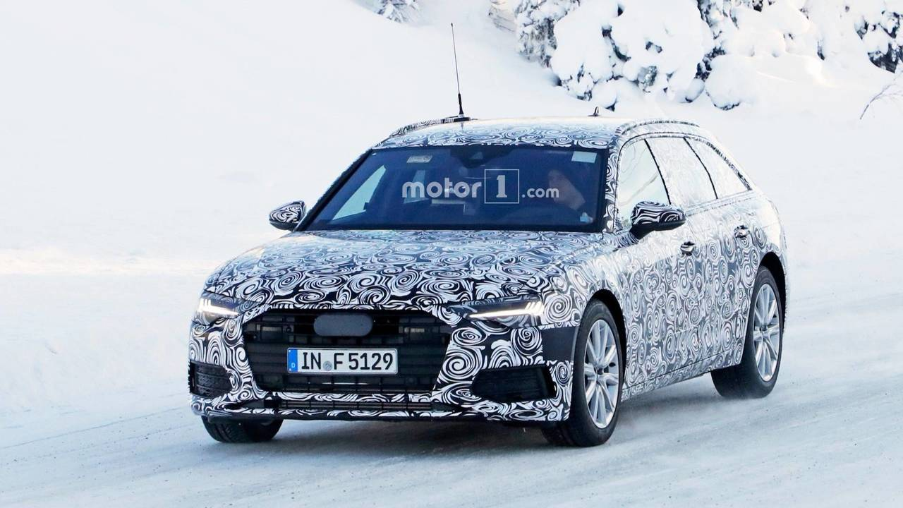 Audi A6 Avant Interior Spy Photos