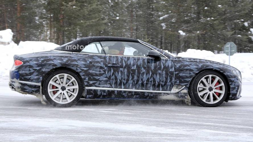 2019 Bentley Continental GTC Puts On Arctic Wrap [UPDATE]