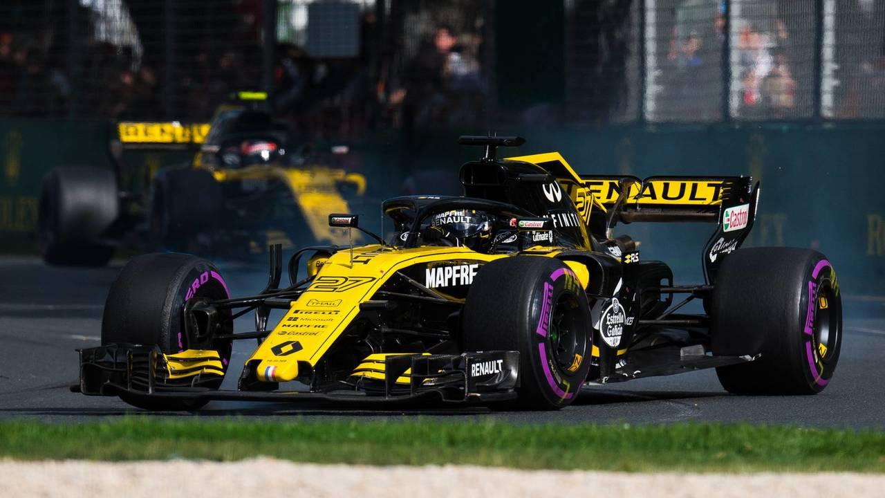Carlos Sainz y Nico Hulkenberg, en el GP de Australia 2018 de F1