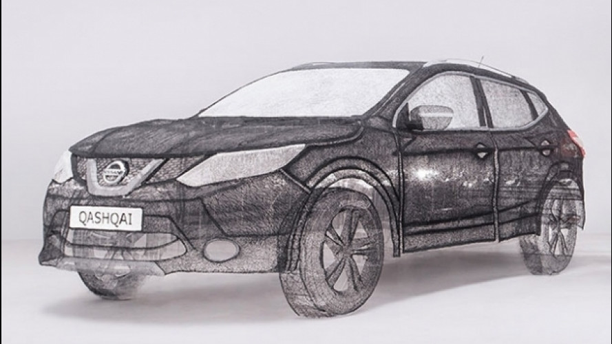 Una Nissan Qashqai disegnata... in plastica 3D