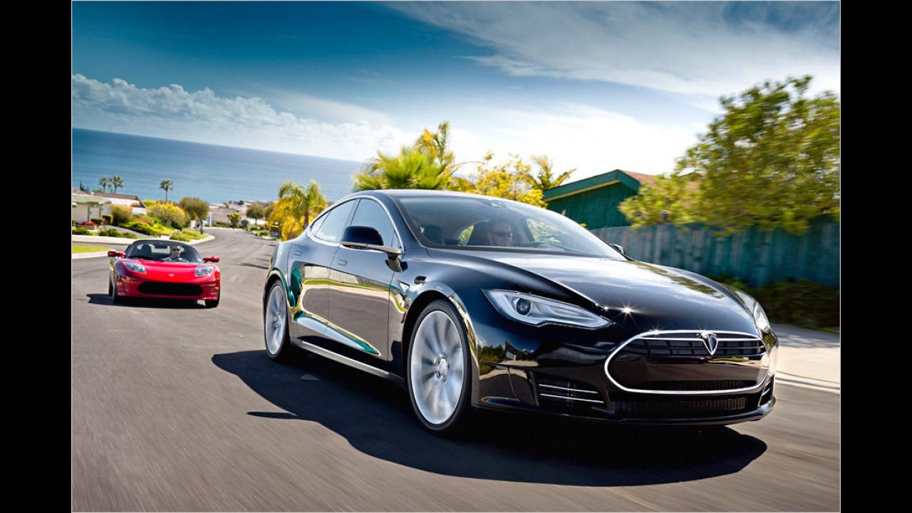 Tesla Model S startet