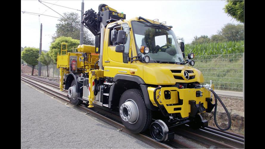 Neuer Unimog U423 für den Schieneneinsatz