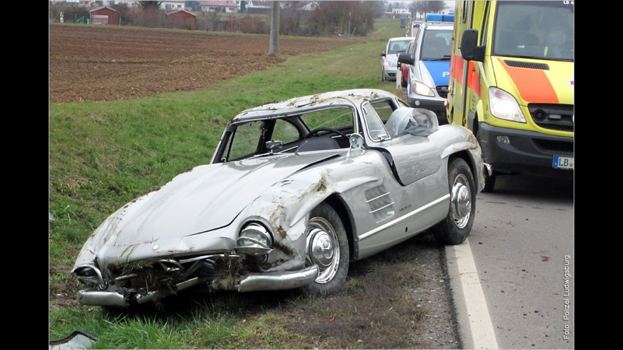 Flop: Mercedes-300-SL-Crash
