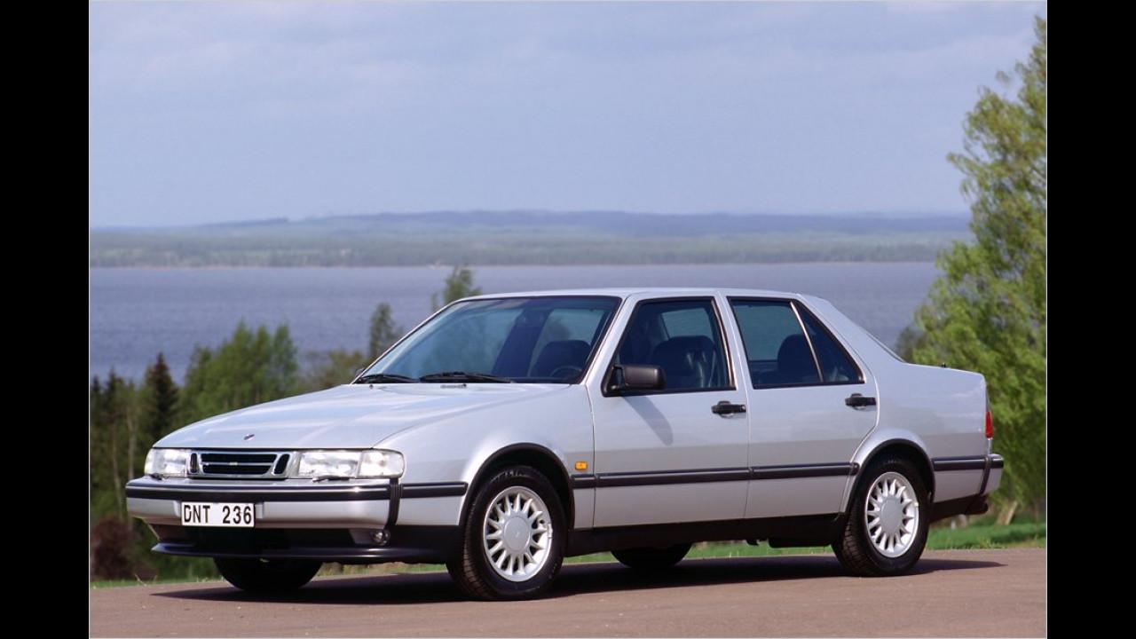 Ab 1985 ergänzte der 9000 die Modellpalette nach oben, im Bild das Facelift von 1992
