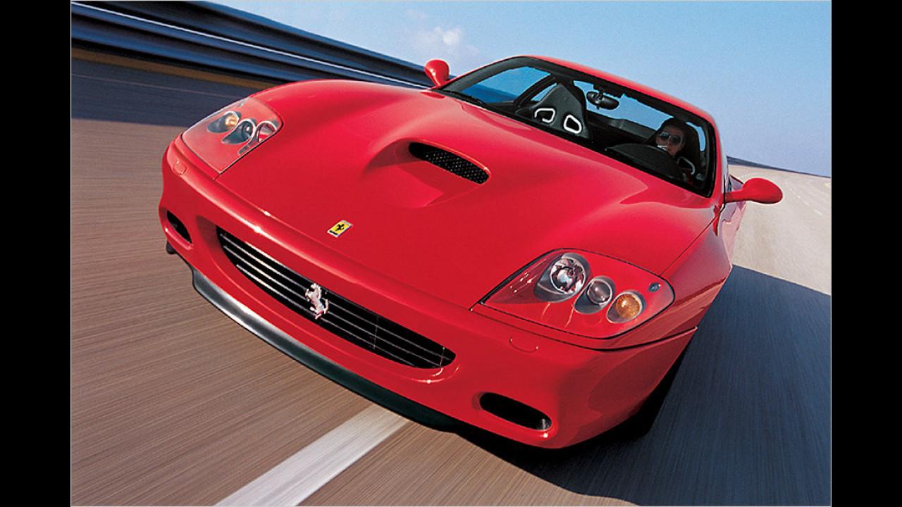 Und welcher Ferrari ist das? Erkannt? Dann sind Sie entweder Experte oder Besitzer. Vom 575 Maranello wurde 2013 nur ein einziges Auto zugelassen. Muss ein altes gewesen sein, denn der 575 Maranello wird schon seit 2006 nicht mehr gebaut