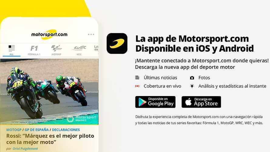 Toda la información, rápidamente en tu mano. ¡Descarga la nueva app Motorsport.com!