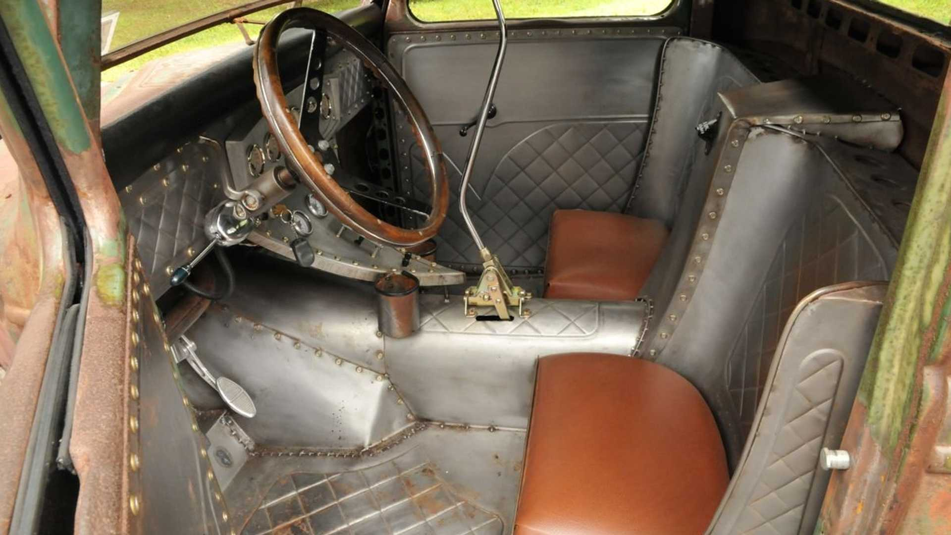 """[""""1936 Ford Truck Is A Low-Riding Rat Rod""""]"""