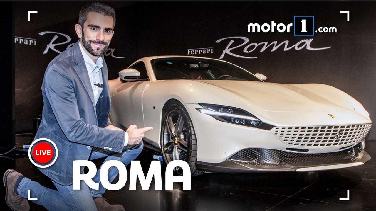 Ferrari roma vista dal vivo