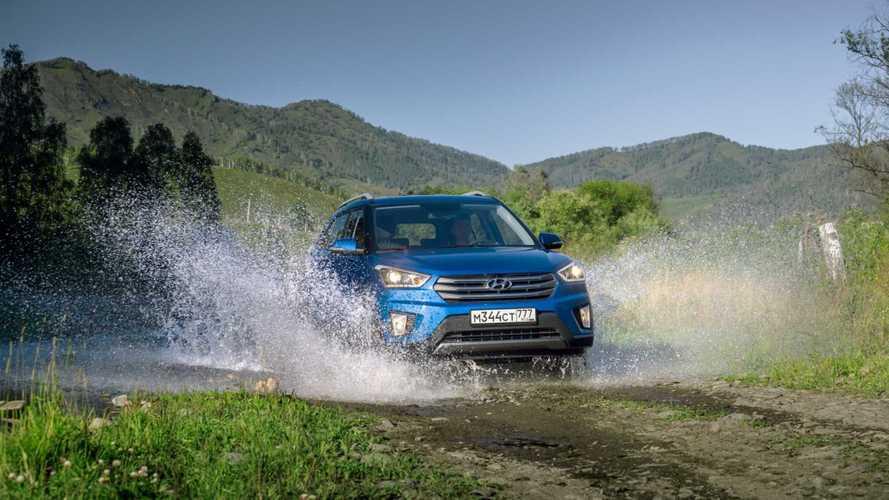 Кроссовер Hyundai Creta подключили к смартфону