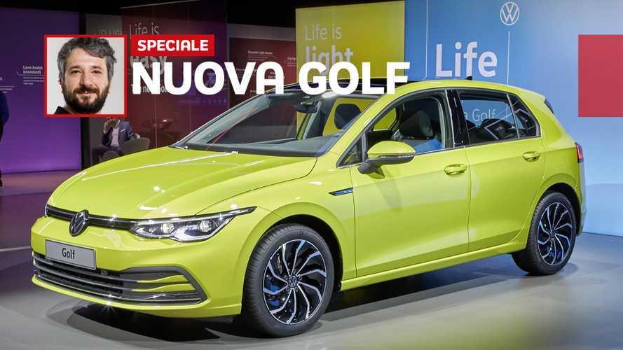 Nuova Volkswagen Golf 8, cambia ancora per essere connessa e ibrida
