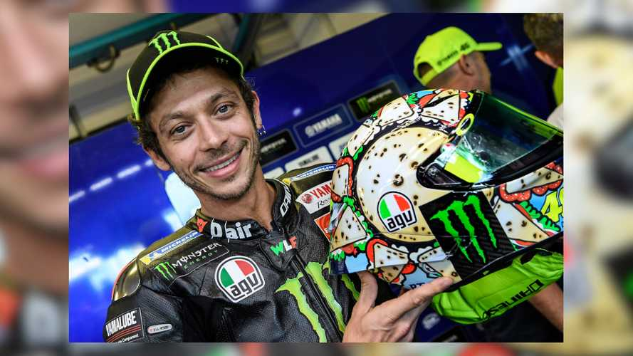 Rossi Rocked A Tasty New Helmet Design At MotoGP Misano