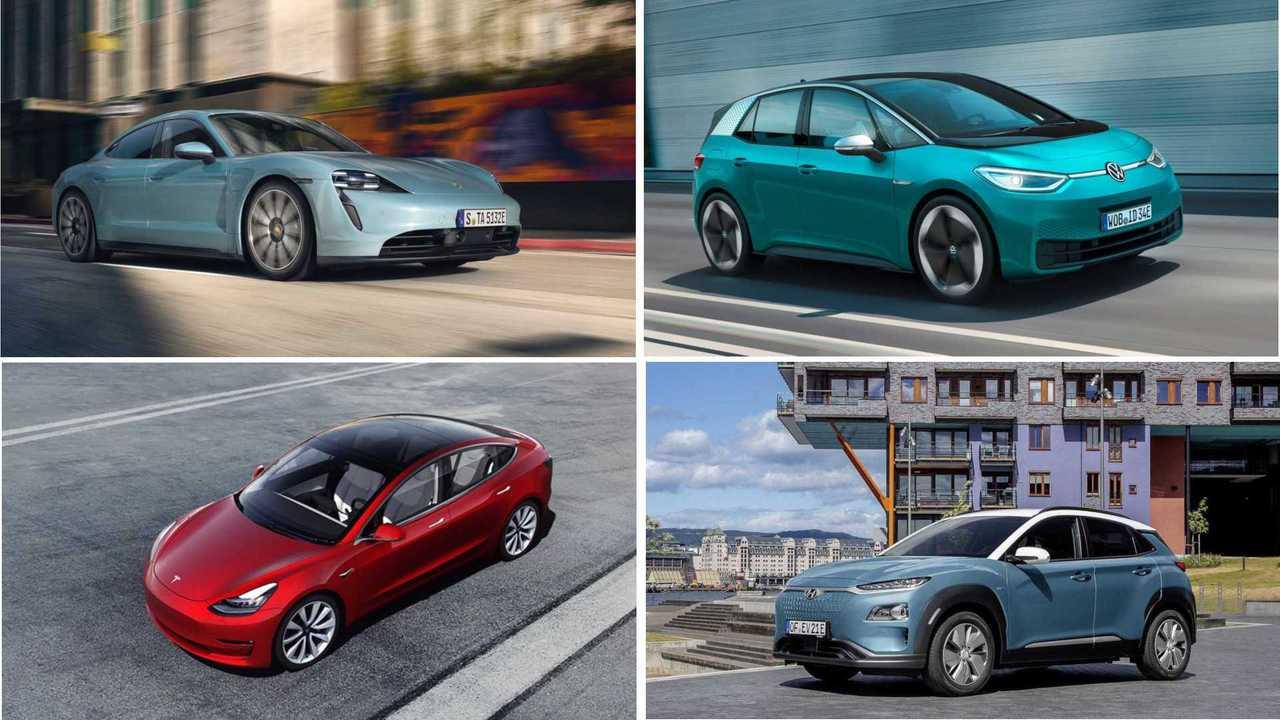 Die Elektroautos mit der größten Reichweite (2019, Collage)