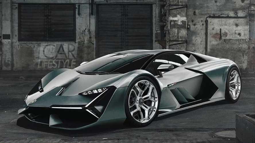 Появился новый рендер будущего гиперкара Lamborghini