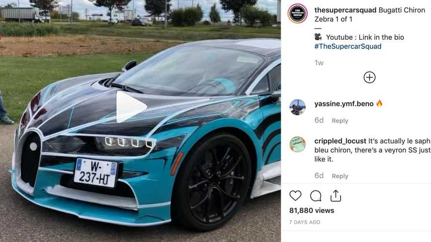 Zebra-striped Bugatti Chiron has polarising look