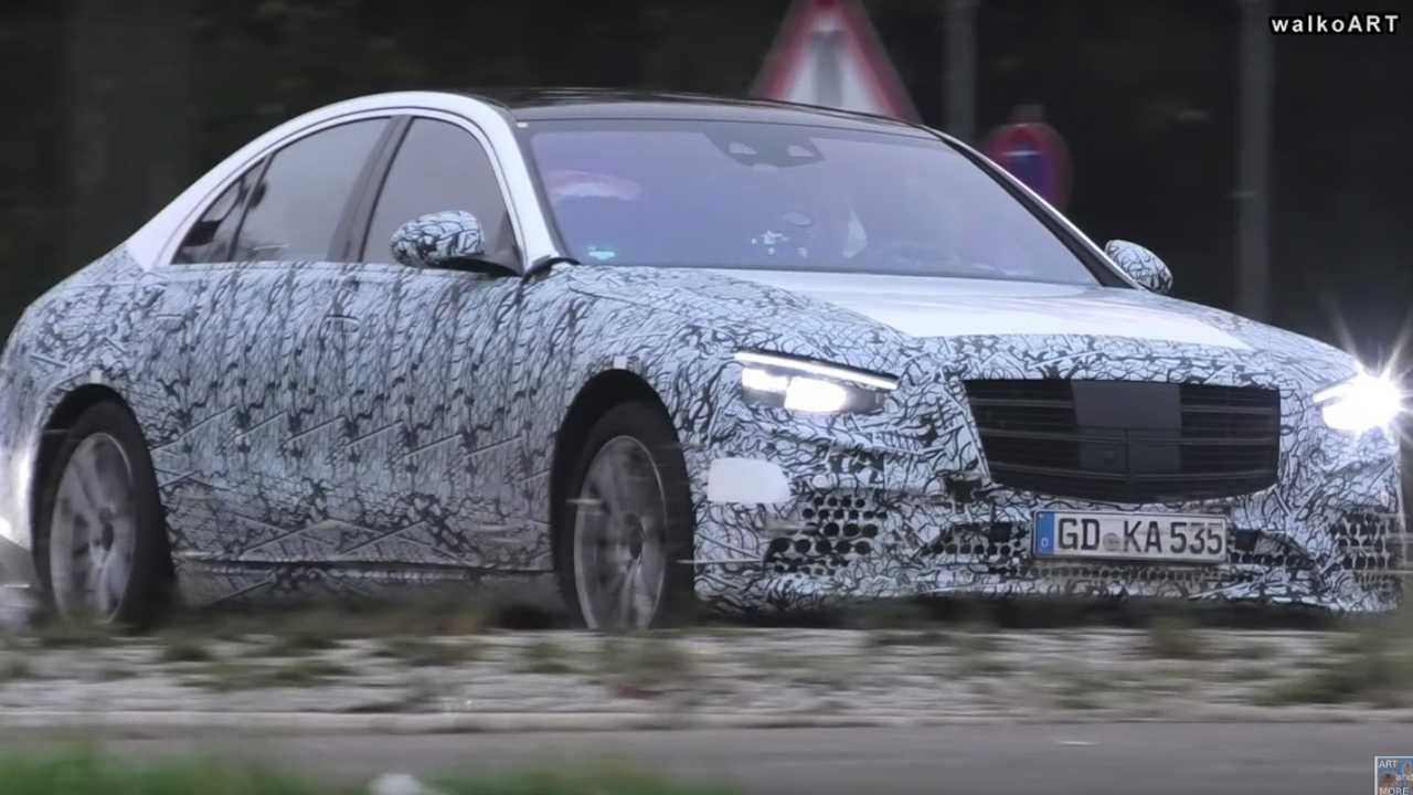 2021 Mercedes S Class Drops Some Camo In New Spy Video