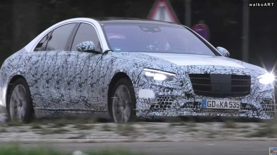 2021 Mercedes S-Class drops some camo in new spy video