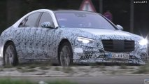 2021 Mercedes-Benz S-Class less camo spy video (screenshots)