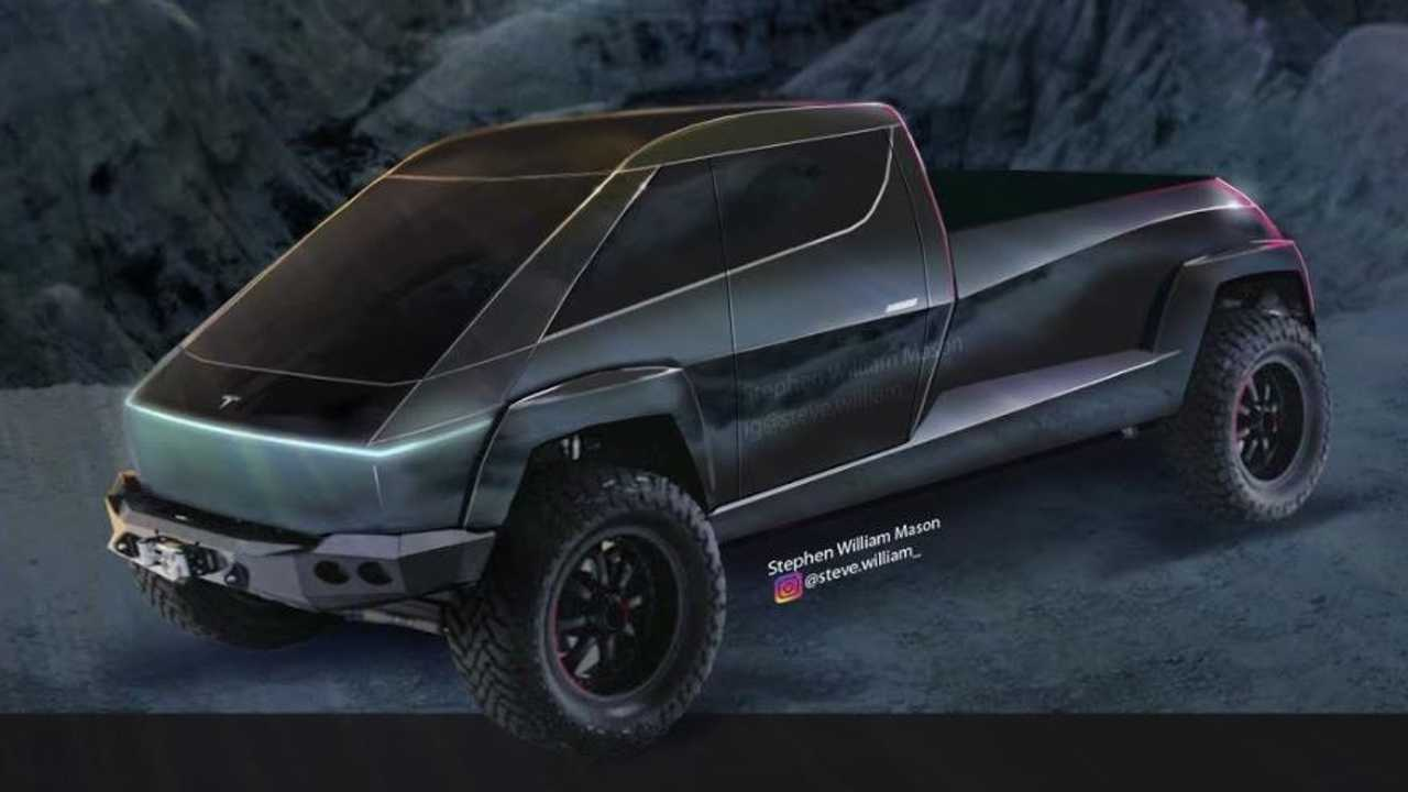 All-New Tesla Pickup Truck Cyberpunk Render Is As Real As It Gets