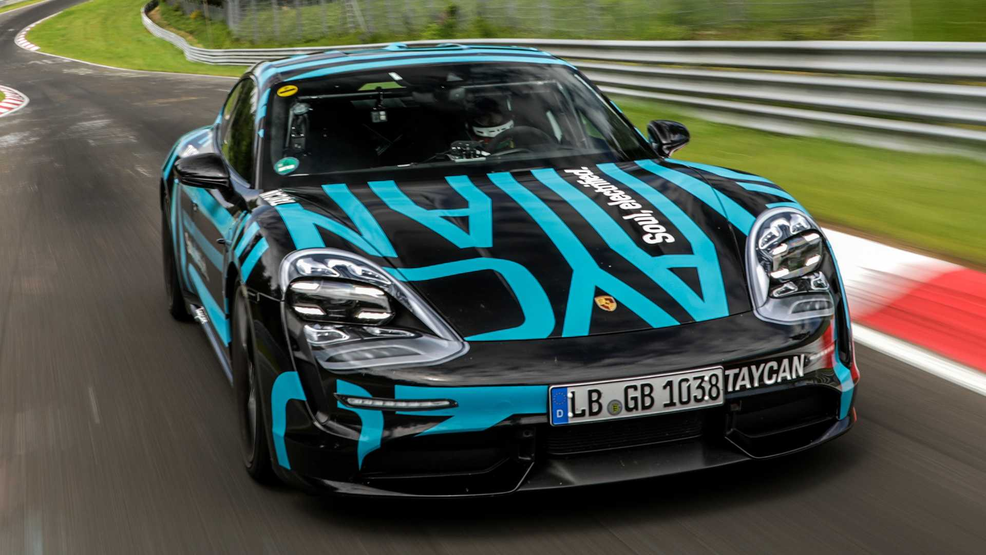 Porsche Taycan Crowned Fastest Four,Door EV At The Nurburgring