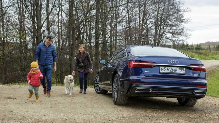 Совместимы ли седан Audi A6 и ребенок с собакой?