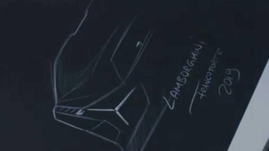 Lamborghini'nin yeni modelinin çizim videosu geldi