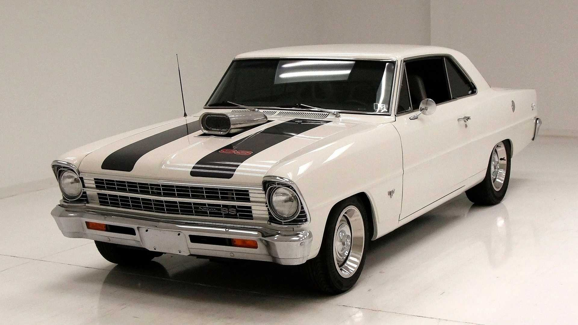"[""Ermine White 1967 Chevy Nova Coupe Is Anything But Vanilla""]"