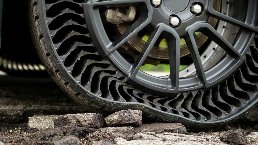 Michelin Uptis: Mit dem luftlosen Autoreifen sind Reifenpannen passé