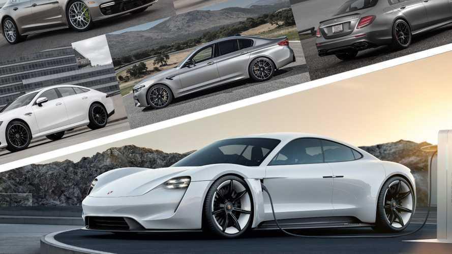 La Porsche Taycan face à ses rivales thermiques, M5, E 63 AMG, Panamera...