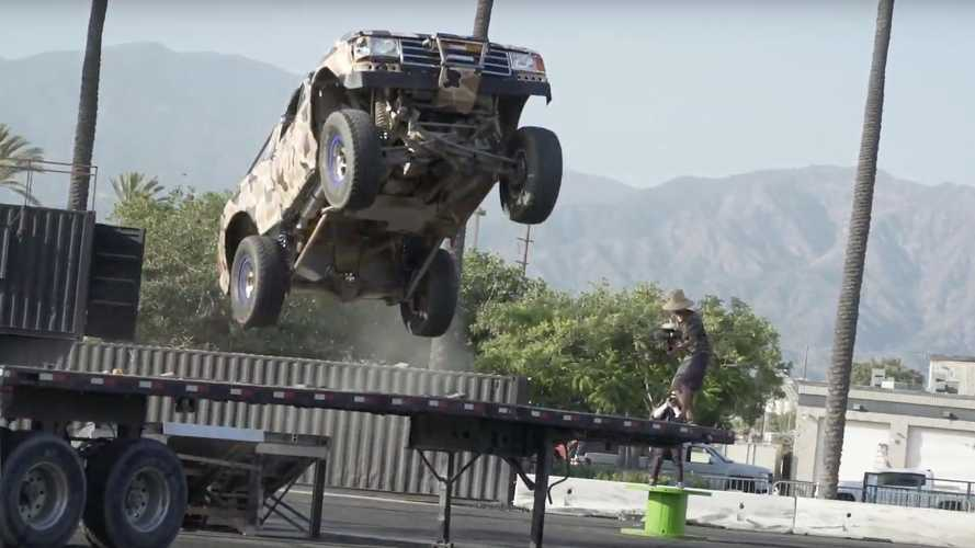 See Escalade-Powered Ford Bronco Jump Over 1,000-HP McLaren 720S