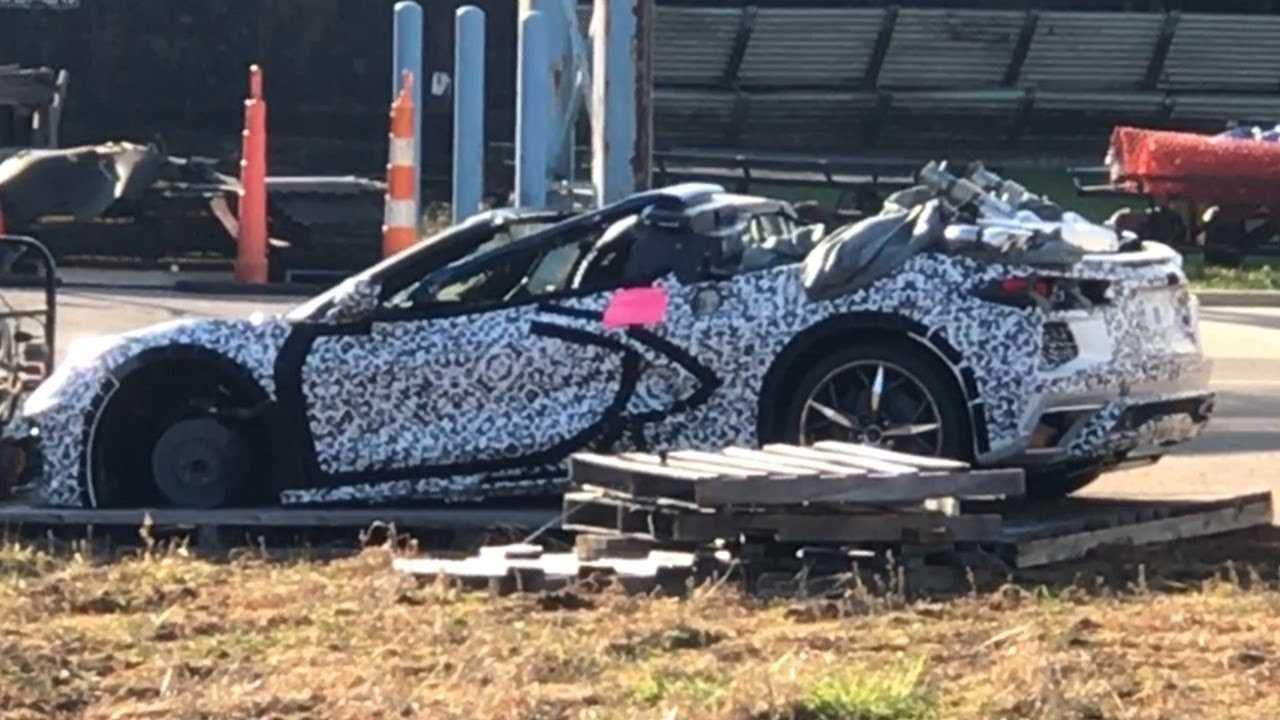 Wrecked 2020 Chevy Corvette Convertible Spotted At The Factory