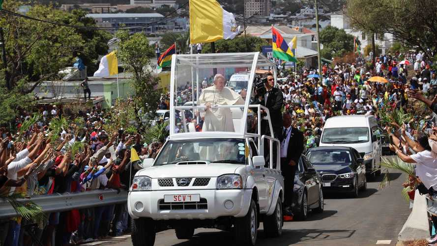 The Newest Popemobile Is ... A Nissan Pickup Truck?