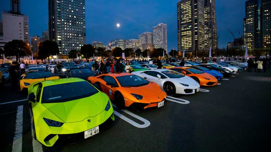 Lamborghini Day Japan Brings 200-Supercar Parade To Yokohama