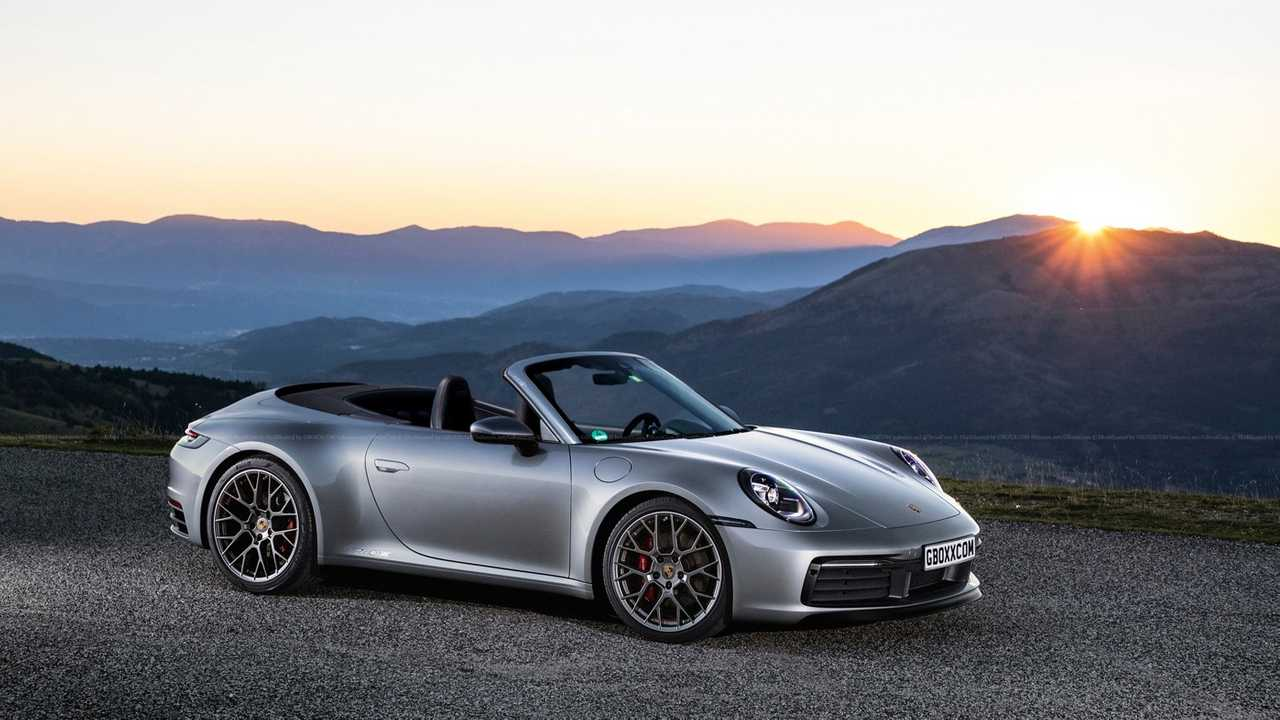 2020 Porsche 911 Convertible Fan Render