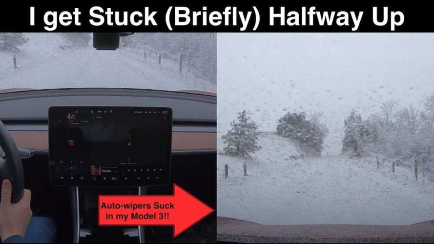 Tesla Model 3 RWD Versus An Icy Hill: Video