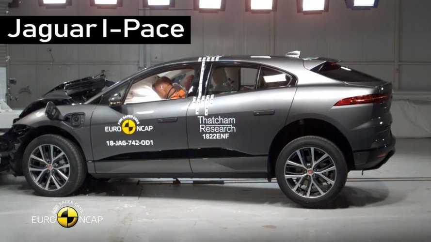 Watch Jaguar I-Pace Crash Repeatedly To Earn 5-Star Safety Rating