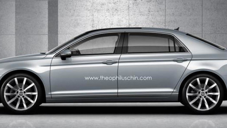 Next generation Volkswagen Phaeton digitally imagined