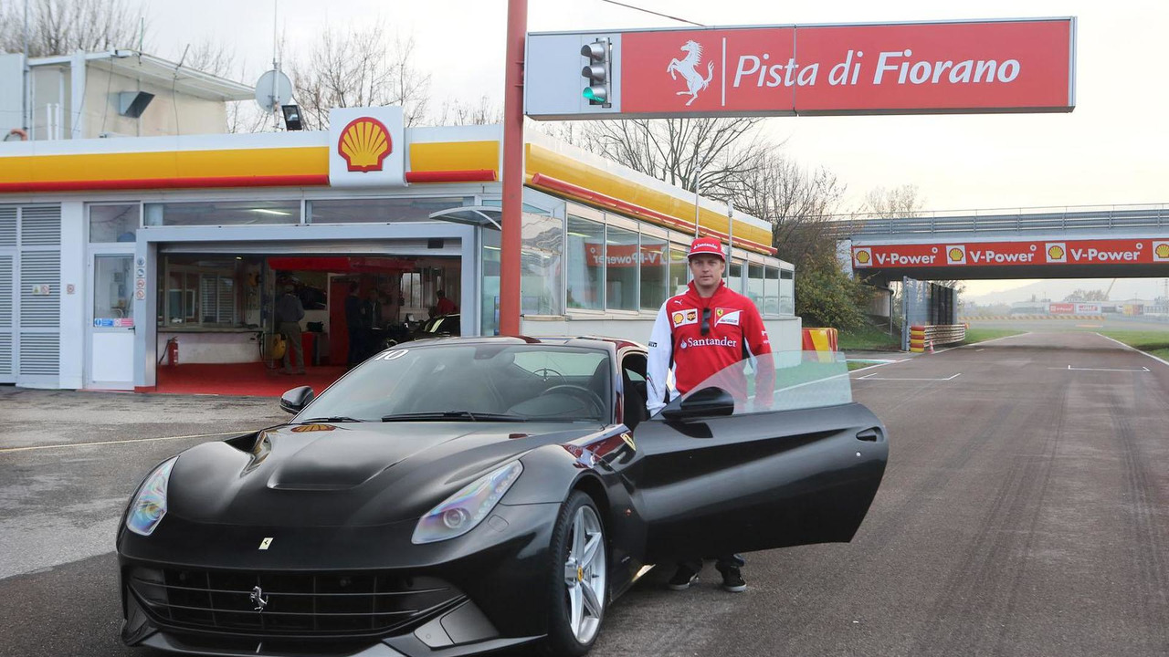 Kimi Räikkönen and the Ferrari F12berlinetta
