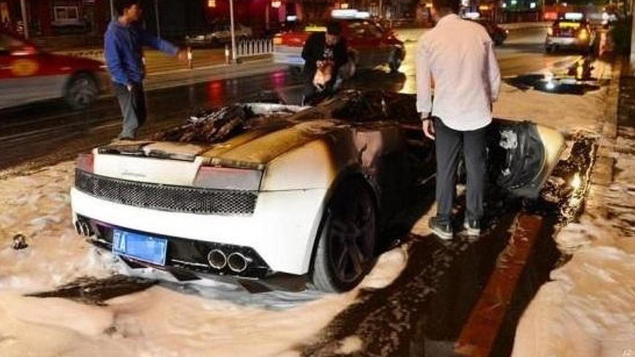 Lamborghini Gallardo Fire Motor1 Com Photos