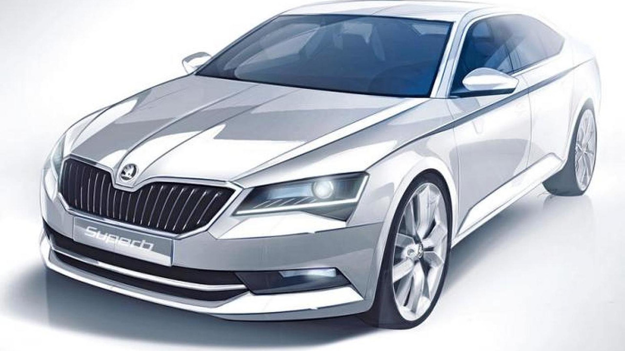 Skoda Superb design sketch