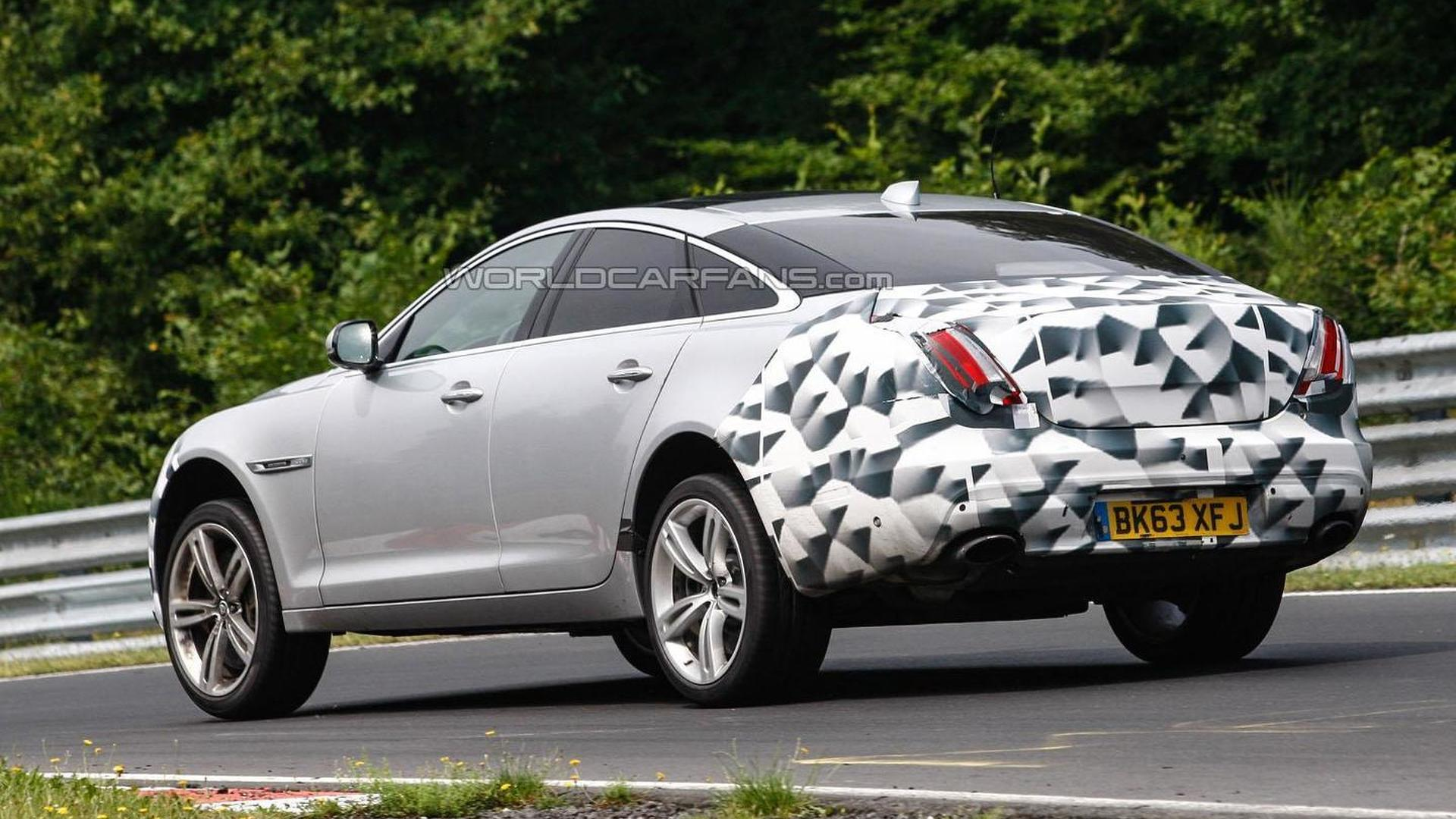 Jaguar Xj Facelift Spied On The Nurburgring Motor1 Com Photos