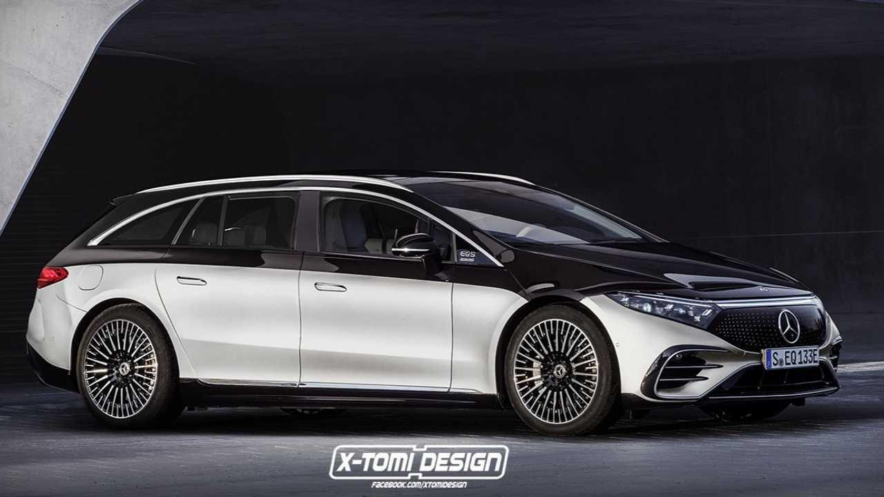 Mercedes EQS imagines as practical wagon