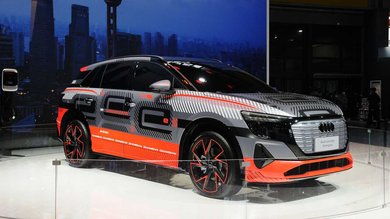Audi electric SUV study at Auto Shanghai 2021