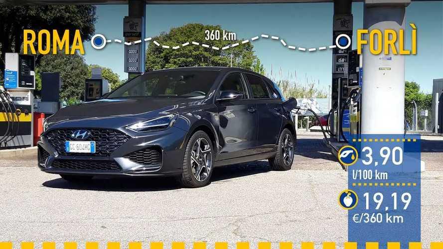 Hyundai i30 híbrido ligero: prueba de consumo real