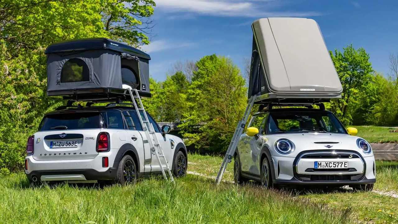 MINI Cooper SE y Countryman SE ALL4, con tiendas de techo