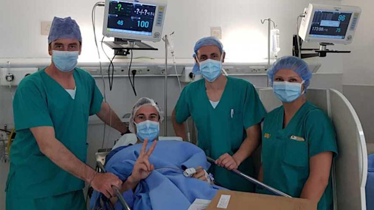 Toni Bou Broken Fibula Surgery