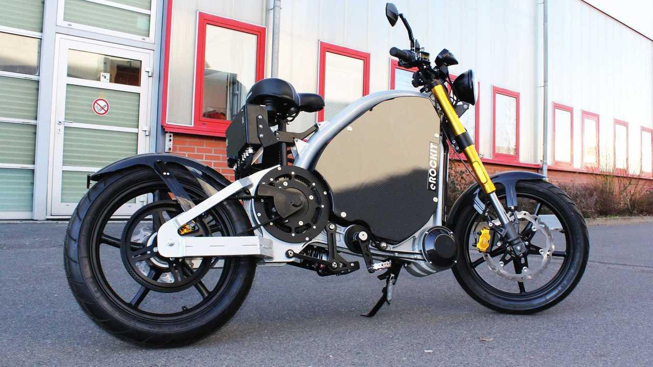 Das eRockit ist ein pedalgesteuertes Elektro-Motorrad der 125er-Klasse