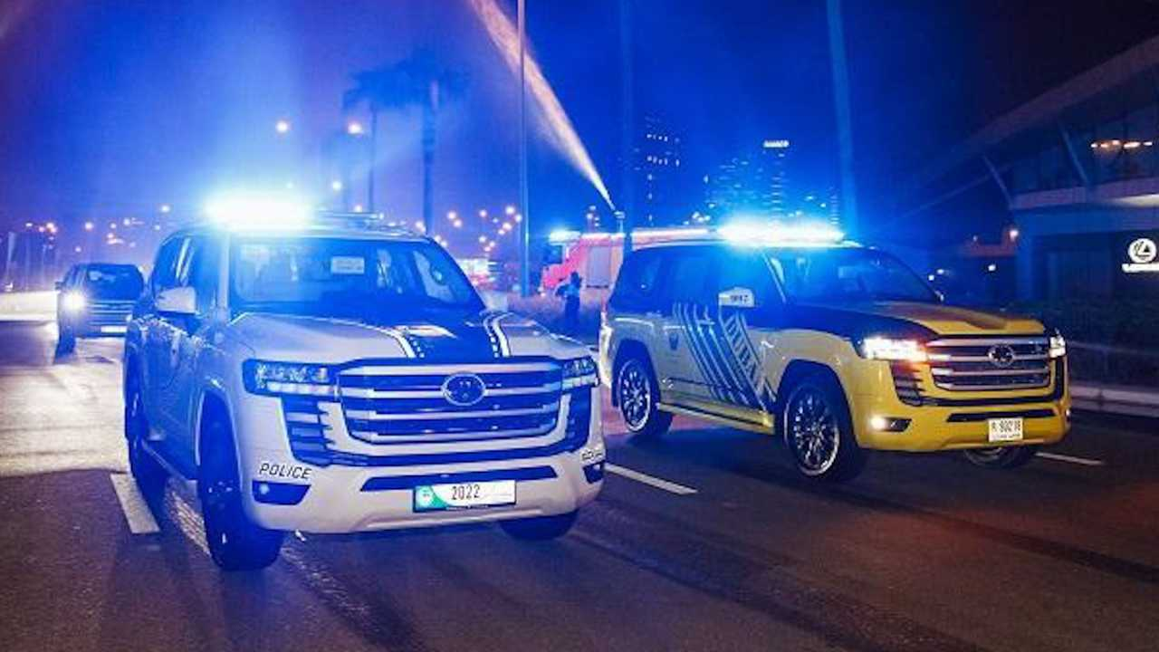 2022 Land Cruiser joins UAE police forces.
