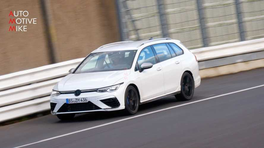 New VW Golf R Wagon Spied Carving Nurburgring Corners Like A Boss