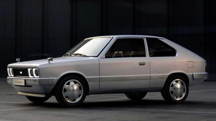 Hyundai Pony renasce como 'elétrico retrô' para celebrar Giugiaro