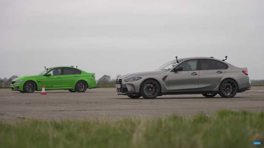 New BMW M3 faces its modified father in fast four-door drag race